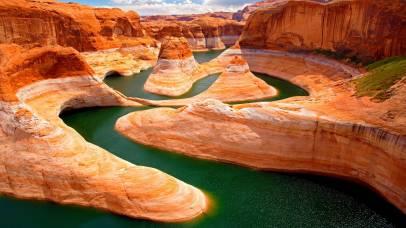 River through canyon